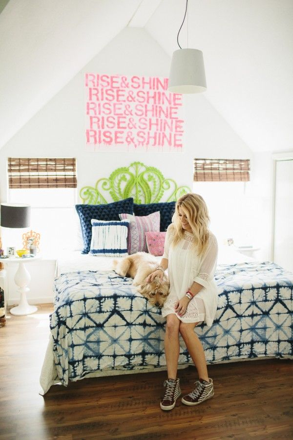 Style At Home: Jen Coleman Of Ascot + Hart | Loving this breezy and bold bedroom