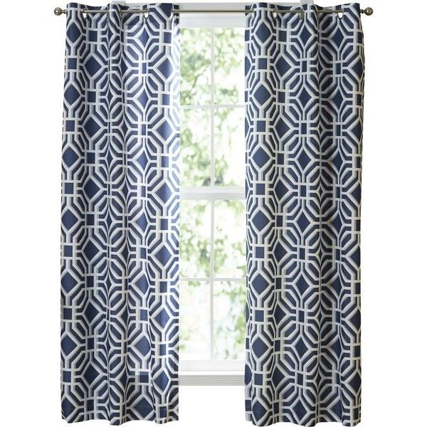 Jayden Trellis Grommet Single Curtain Panel ❤ liked on Polyvore featuring home, home decor, window treatments, curtains, grommet curtain panels, grommet draperies, trellis curtain panels, grommet drapery panels and grommet curtains
