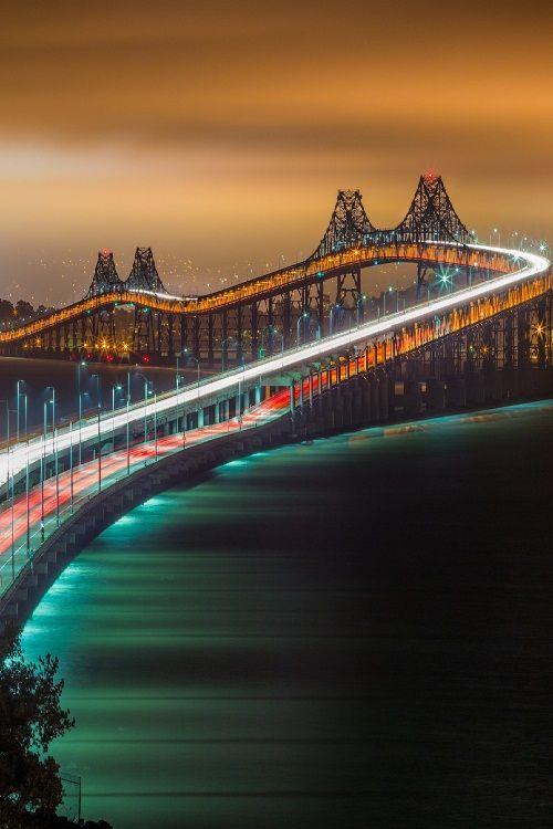 Richmond-San Rafael Bridge over San Francisco Bay ~ California ~ USA