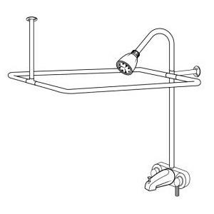 Chrome Frame/Faucet Shower Riser
