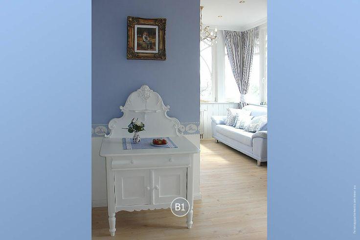 Alle Appartements in der #Bädervilla sind romantisch eingerichtet. Villa Hansa, Timmendorfer Strand.