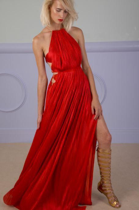 ZAKAI floor-length dress