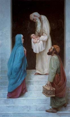 Jesus Presented in the Temple to Simeon Fourth Joyful Mystery: Candlemas