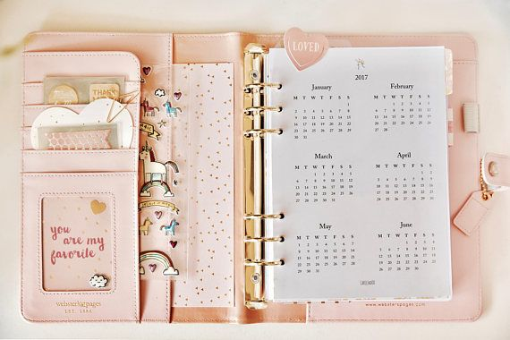Free Download Printable Planner Inserts Kit 2017 + 2018 monthly yearly weekly /