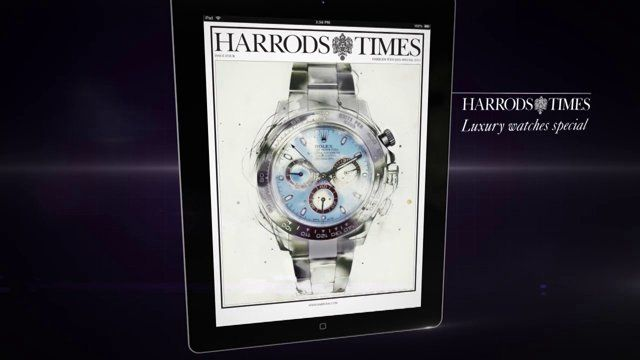 We created the Harrods Times iPad version advert which was broadcasted on in-store screens and social media. http://www.room4media.com/portfolio/harrods-magazine/