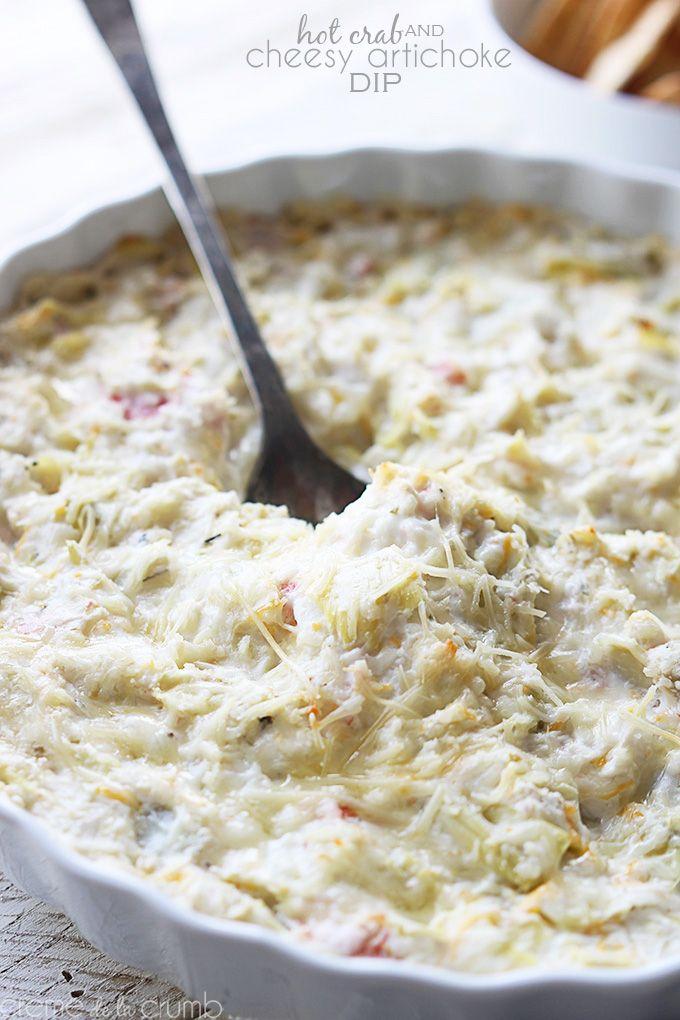 Hot Crab and Cheesy Artichoke Dip @Tiffany {Creme de la Crumb}