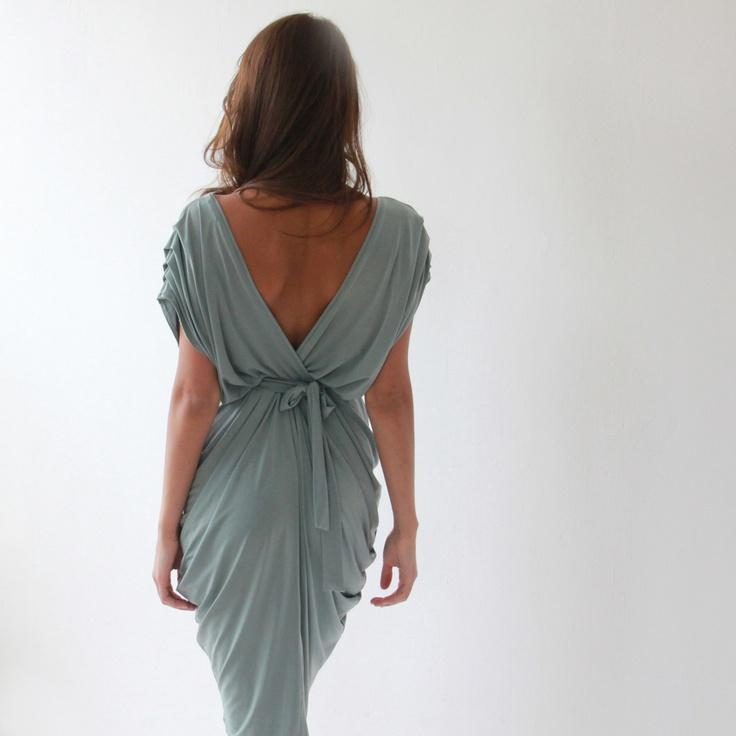 Fab.com | Open Back Pleated Dress Mint