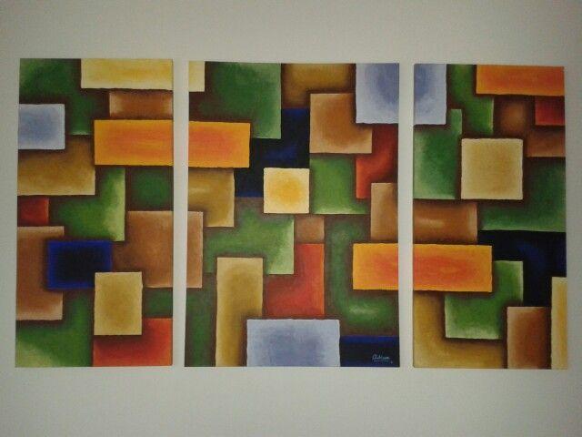 Triptico abstracto talleraradia@gmail.com