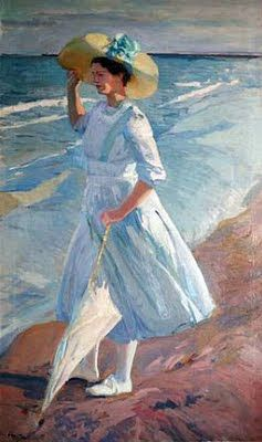 Joaquín Sorolla y Bastida Elena on the beach of Valencia Gorgeous Light effects!
