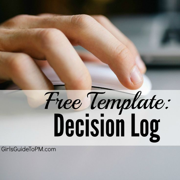 Free project management template for decisions