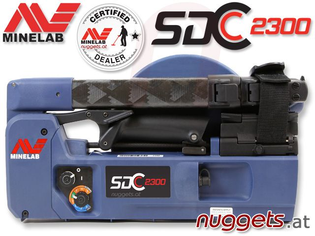 SDC2300 Minelab GoldDetector Metal Detector - DEEP Gold Searching - now available from www.nuggets.at