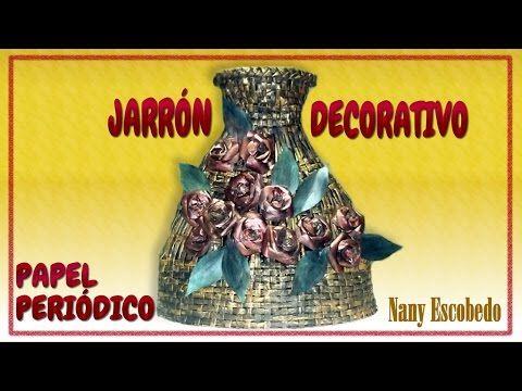 JARRÓN DECORATIVO CON PAPEL PERIÓDICO / DECORATIVE VASE WITH NEWSPAPER