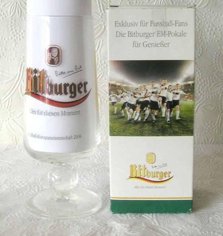 Bitburger Foosball Beer Glass  1980  Europmeister Football Soccer  West Germany
