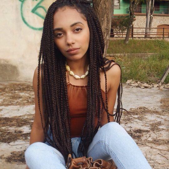 Box braids and natural beauty