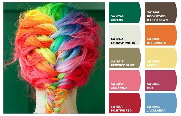 Una trenza de arcoiris