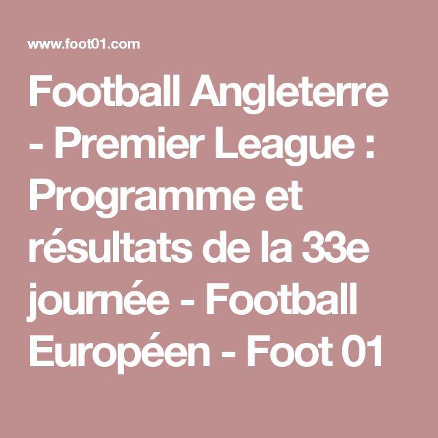Football Angleterre - Premier League : Programme et résultats de la 33e journée - Football Européen - Foot 01