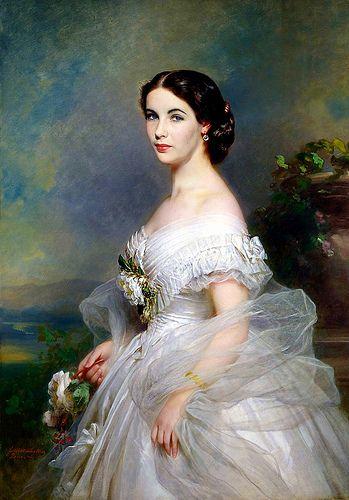 Elizabeth Taylor  Franz Xaver Winterhalter (1805-1873). Adelina Patti.
