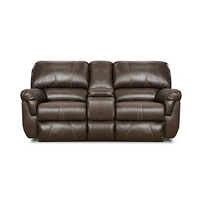 Simmons Bucaneer Cocoa Reclining Console Loveseat At Big