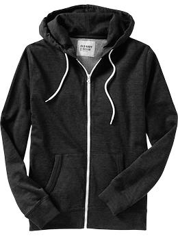 Old Navy Men's Jersey fleece zip hoodie-get it in a size small for the perfect comfy lounge sweater!