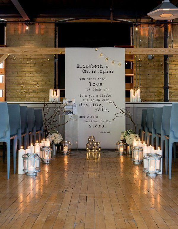 Chic Industrial Wedding Reception Ideas / http://www.deerpearlflowers.com/industrial-wedding-ceremony-decor-ideas/2/
