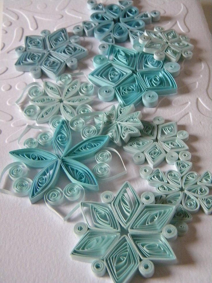 Paper quilling snowflakes / Paper ornaments / Winter wedding decorations. --via Etsy.