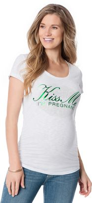 Motherhood Kiss Me Im Pregnant Maternity T Shirt - Shop for women's Shirt - White Shirt
