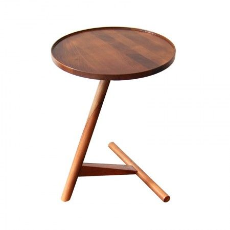 the future perfect. calve occasional table by lee kirkbride. walnut