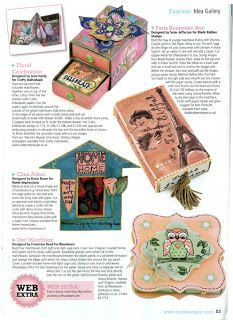 My matchbox feature in Craft Stamper mag, using Paris plate stamp from Blade RubberStamps