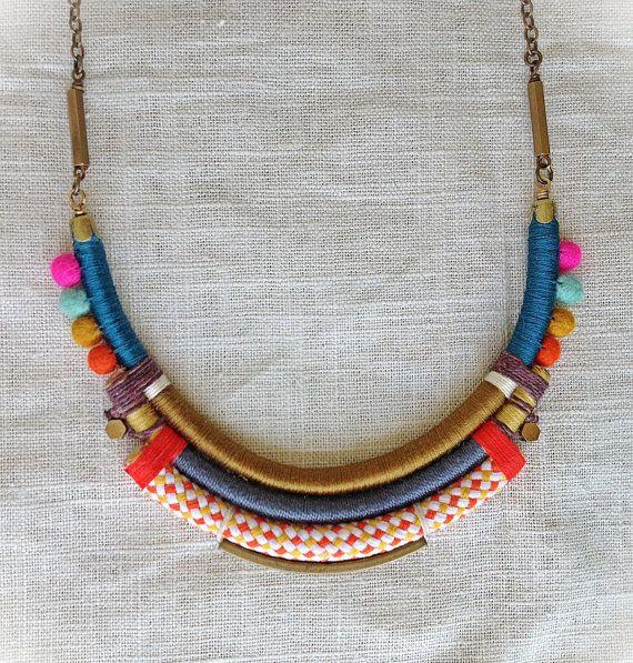The ISADORA Necklace Color Study No. 34 von NestoftheBluebird, $72.00