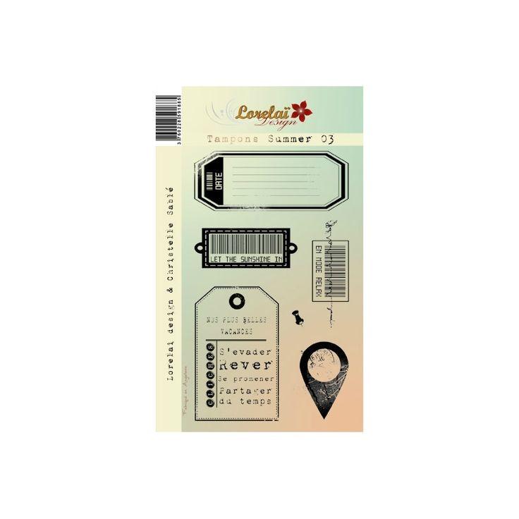 Tampons transparents 10x 18 'Lorelaï Design - Summer' 03 - La Fourmi creative