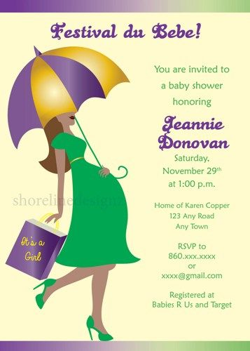 23 best images about mardi gras theme on pinterest   shops, mardi, Baby shower invitations