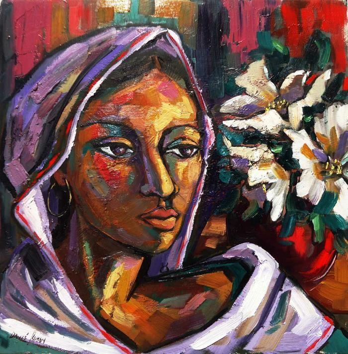 Dante Ruben - Girl with scarf