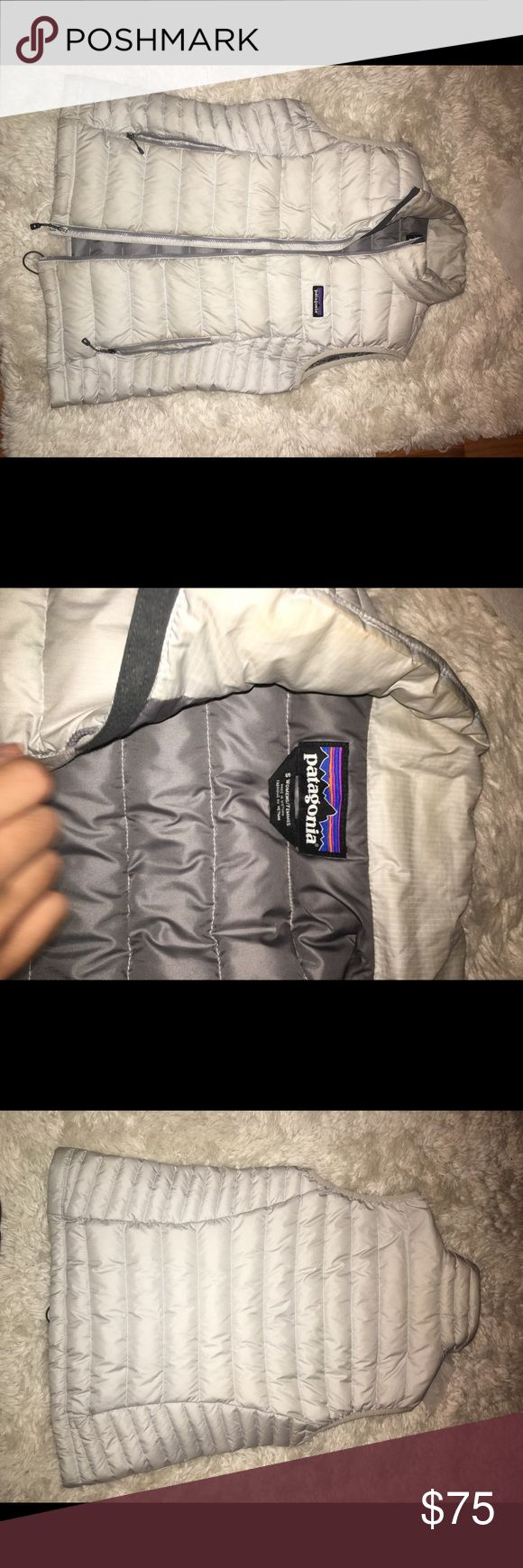 Women's Patagonia Down Sweater Vest Patagonia classic Down Sweater Vest! Color has faded slightly(you can see in pictures), but otherwise in great condition with no tears. Patagonia Jackets & Coats Vests