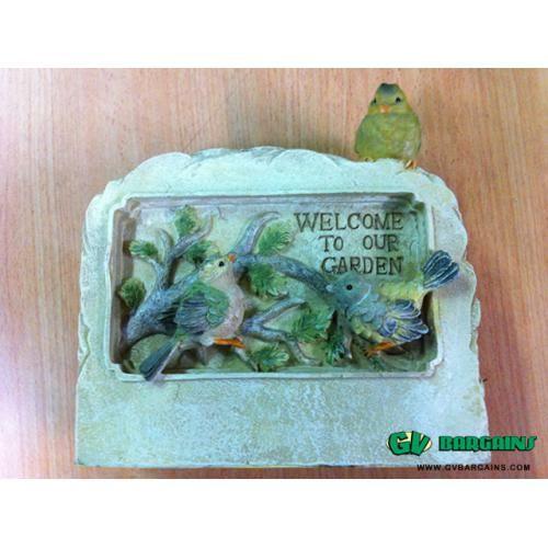 GREAT GARDEN DECOR SOLAR BIRD WELCOME SIGN