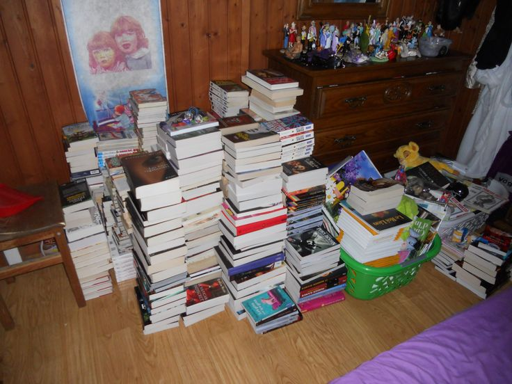 80% of my books (before putting back in the new book-shelves)