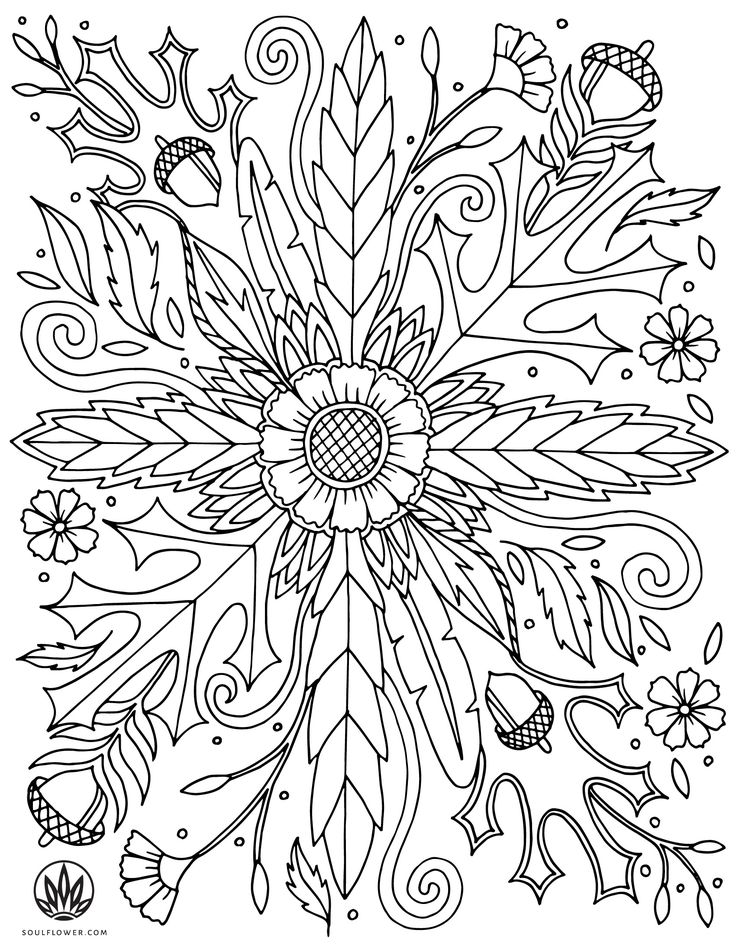fall flower coloring pages - photo#30