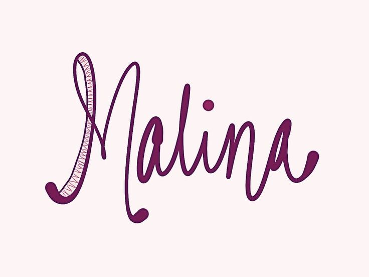 """Malina. """"Mah-LEE-nah"""" This name means 'raspberry' in several Eastern European languages. It is also a Scottish female version of Malcolm. See more baby name pins at http://www.pinterest.com/meggiemaye/for-love-of-names/"""