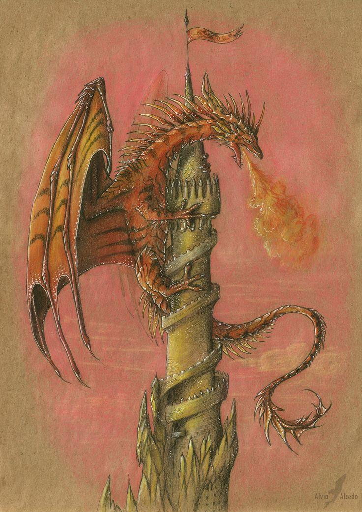 Башня с драконом картинка