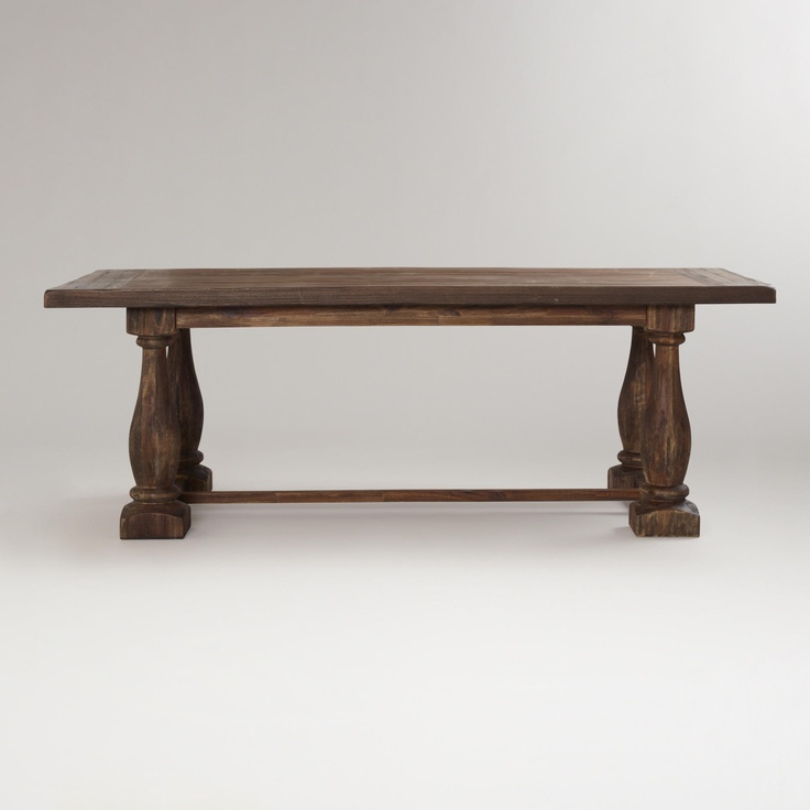 Rustic Java Greyson Fixed Dining Table