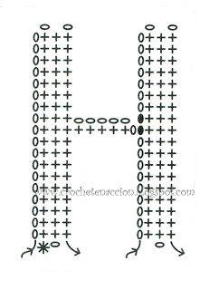 Letra H Crochet En Acción: abecedario