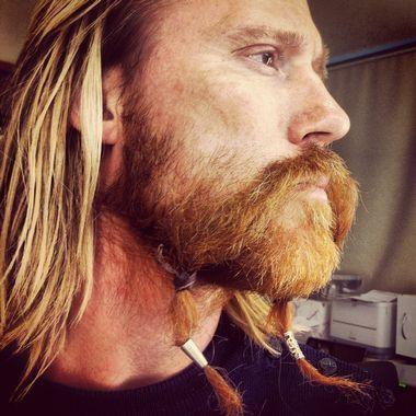 Barske karer 2 Kristofer Hivju, Aksel Hennie og Thorbjørn Harr bidrar til at rødlig, norsk skjegg er i ferd med å bli kulturell norsk ekspor...