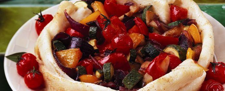 tortino di platessa con zucchine e peperoni ricetta Sale&Pepe