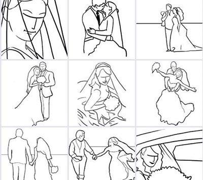 Guia de Poses fotográficas para Casamentos