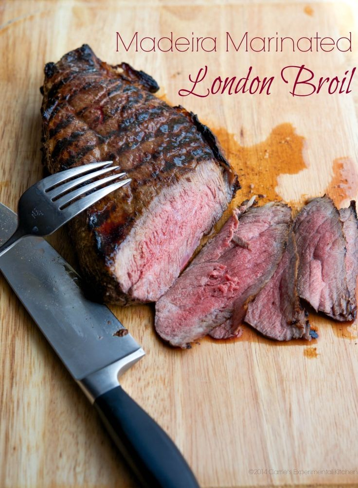 Madeira Marinated London Broil www.carriesexperimentalkitchen.com #beef #grilling