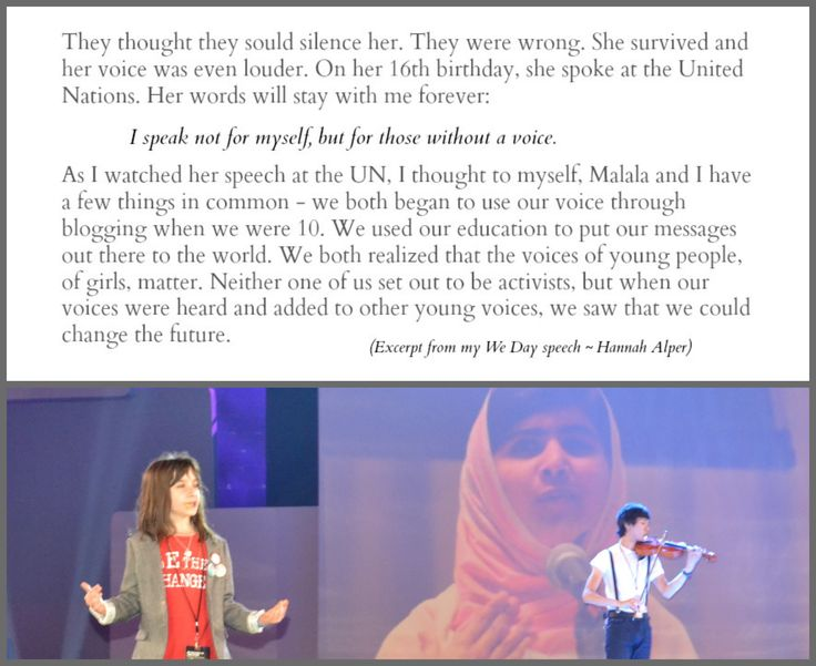 Malala is truly THE most powerful, loudest and inspiring voice for young people. She is encouraging millions of young people to believe that we can change the world and she has proven that for so long.