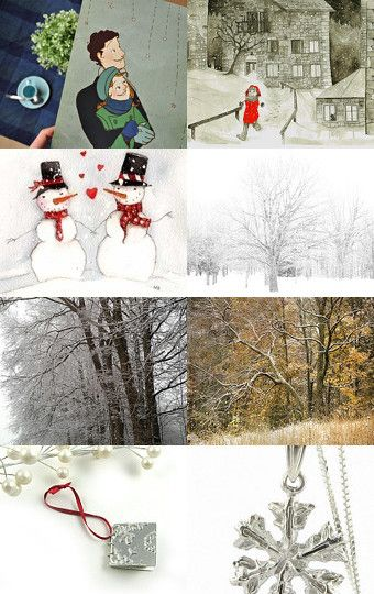 First Snowfall by Irena on Etsy--Pinned with TreasuryPin.com
