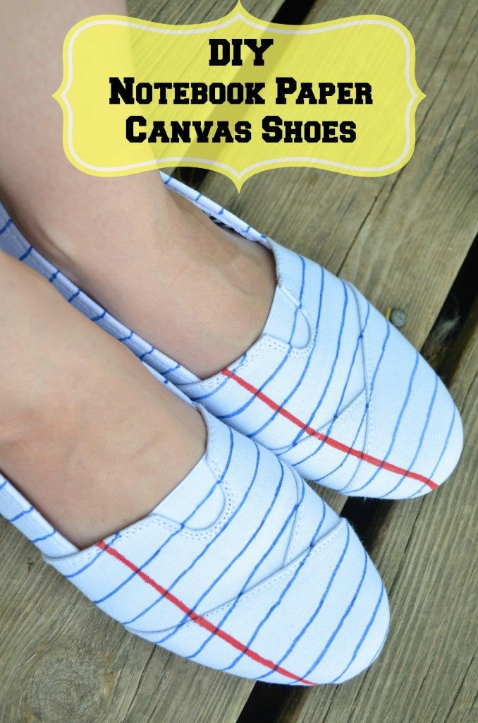 DIY hand painted Notebook Paper Teacher Fashion Shoes - cost UNDER $10 for this unique  beauties and only takes a few minutes to make!