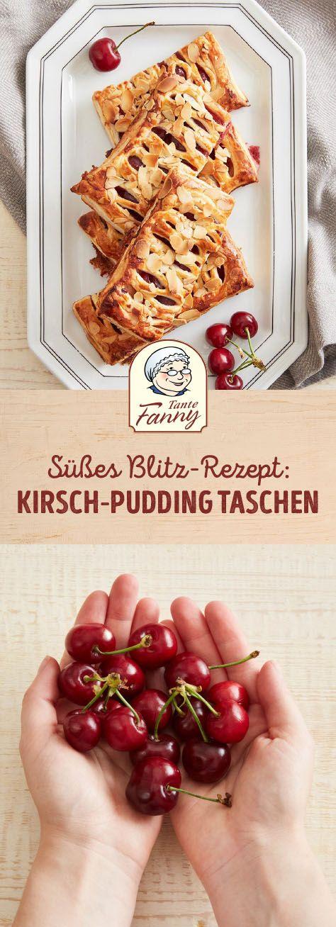 Kirsch-Pudding-Taschen
