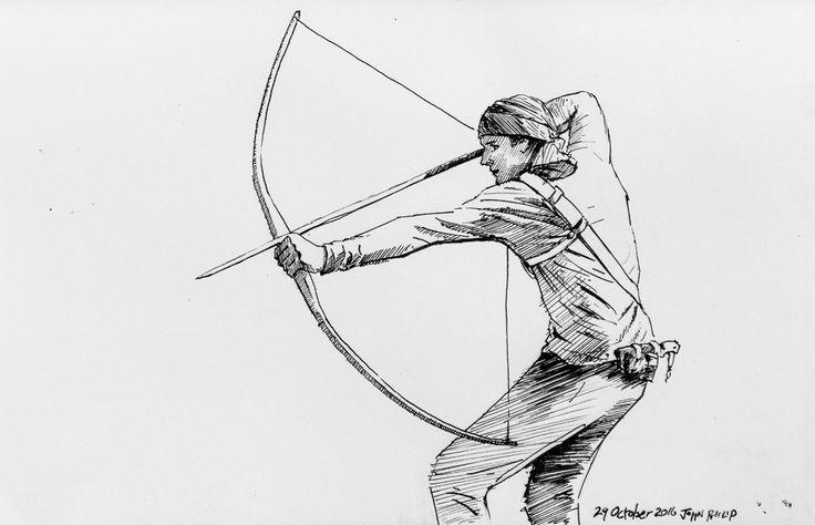 Day 29 - Archer #inktober #inktober2016 http://www.johnphilip.co.za/?p=1455