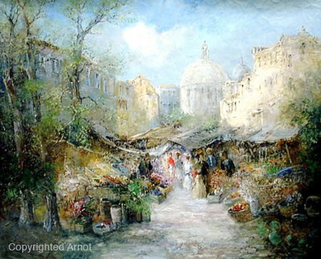 Willi Bauer, Jeruselum Market Place.